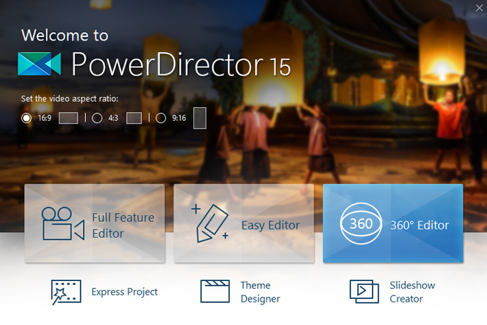 PowerDirector 15: 360-degree and vertical video editing