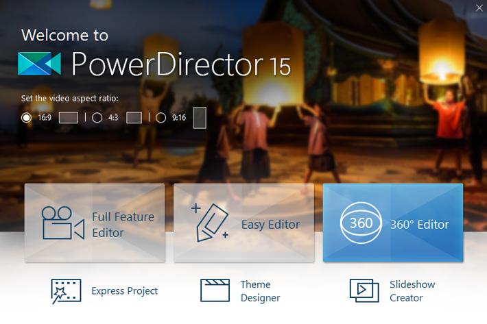 PowerDirector 15: 360-degree and vertical video editing