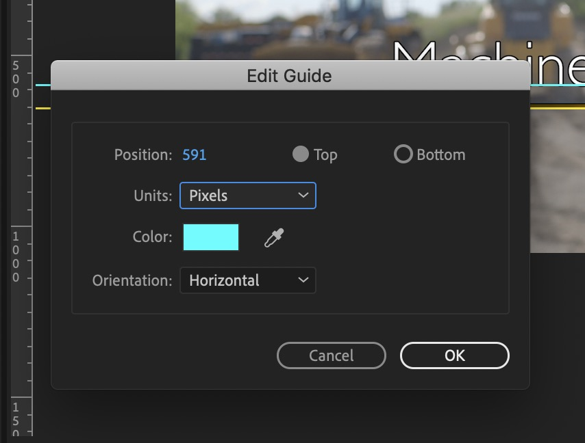 Adobe Premiere Pro Edit Guides