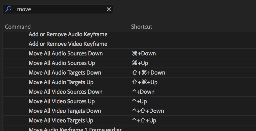 Adobe Premiere Pro move track patching
