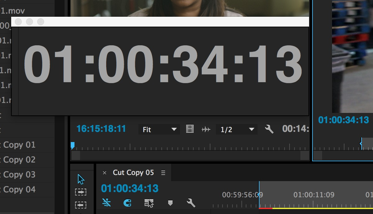 ppro timecode master