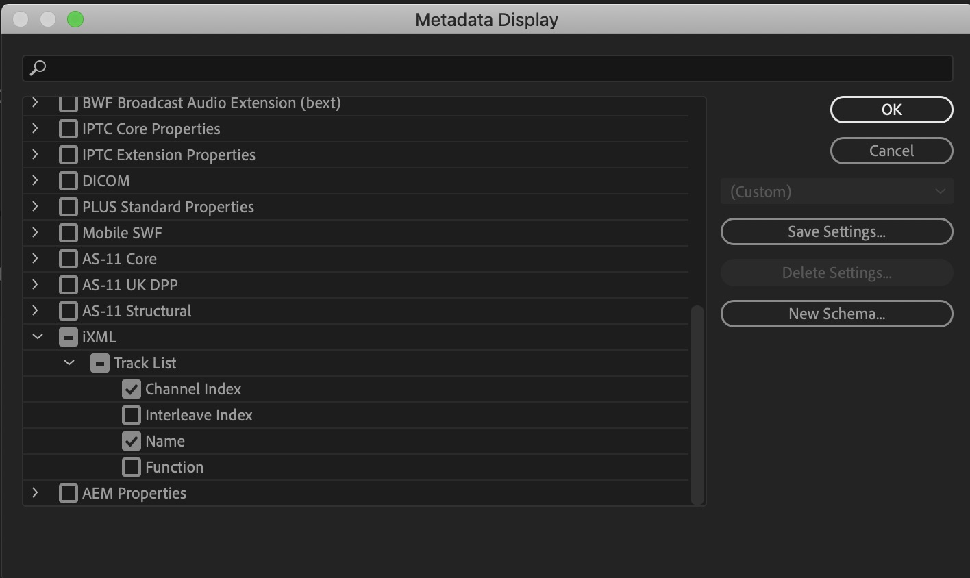 Adobe and Avid need to support iXML metadata for audio channels in the timeline 12