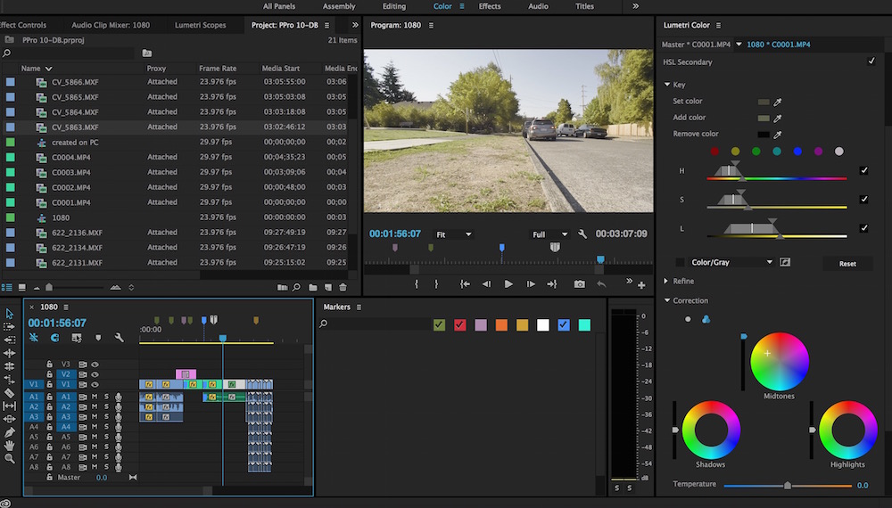 Here's a couple of small things: better marker filtering in the Marker window and thinner minimized audio and video tracks.