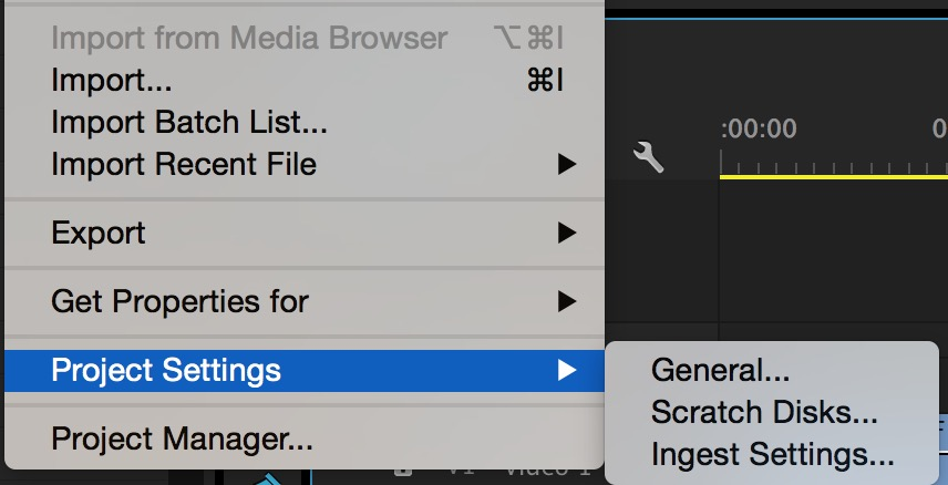 A new menu under Project Settings covers ingesting and it's new options.