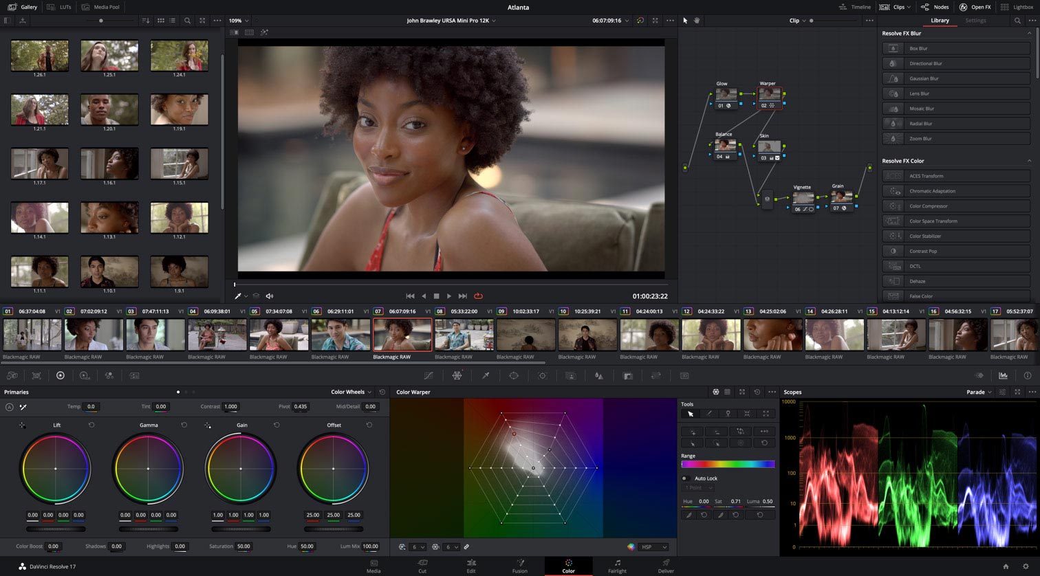 PugetBench for DaVinci Resolve: testing using real-world projects