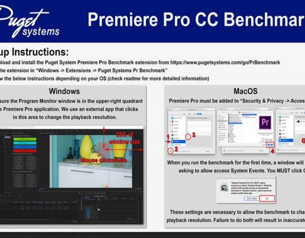 Puget Systems launches new Adobe Premiere Pro CC Benchmark