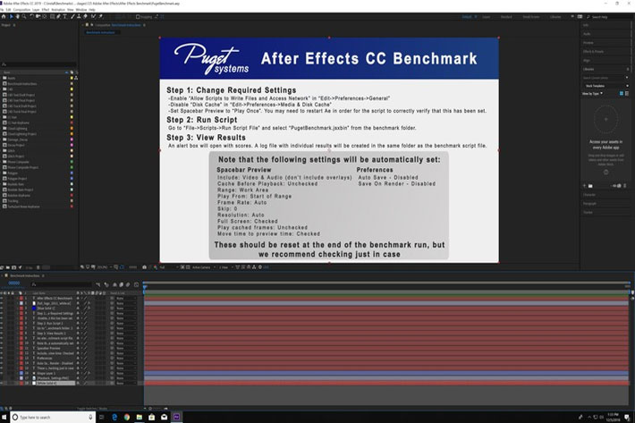 Test your PC or Mac for an optimal After Effects workflow