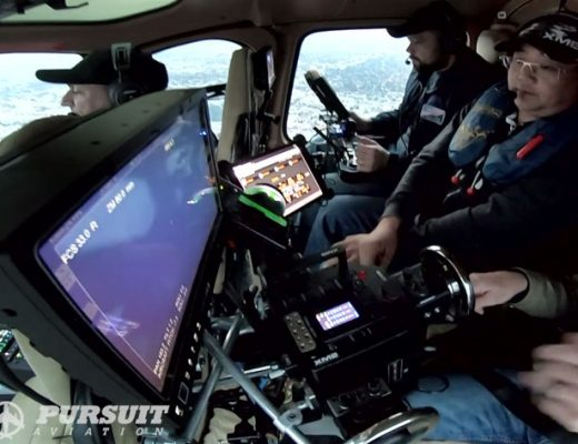 Pursuit Aviation: new way of shooting aerial scenes from inside helicopters