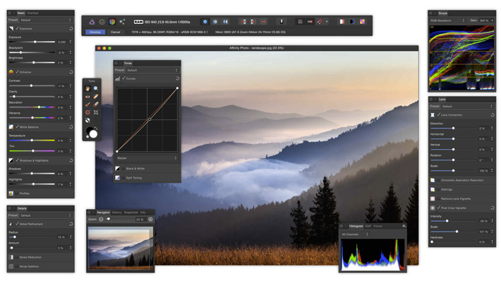 Affinity Photo and ON1 Photo RAW challenge Lightroom and Photoshop