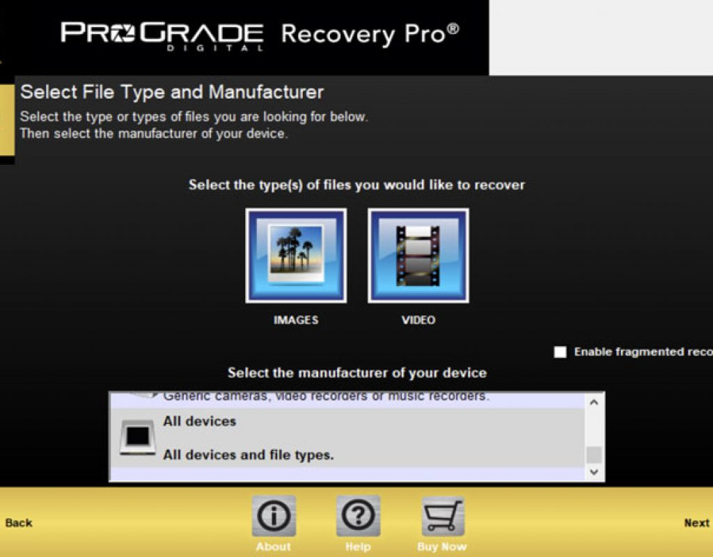 Restore photo and motion files with the new Recovery Pro