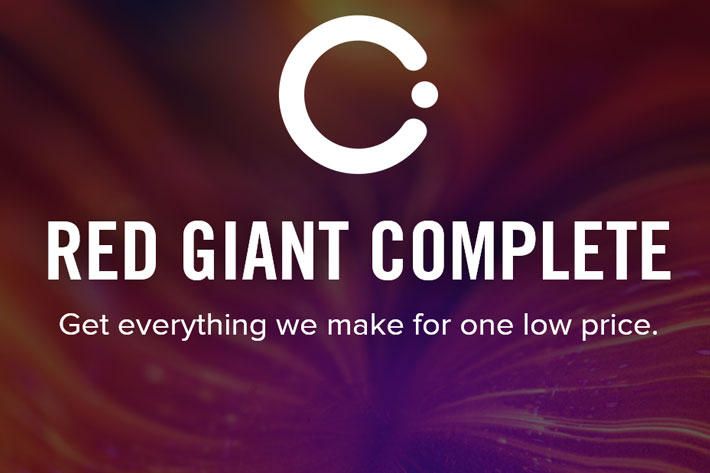 Red Giant Complete now completely FREE for educational use