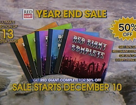 Red Giant: Year End Sale starts December 10