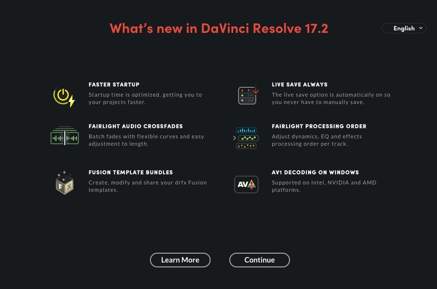 Blackmagic Design DaVinci Resolve 17.2 released 1