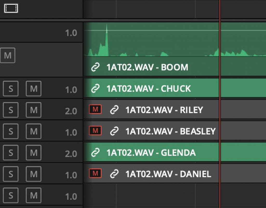 Adobe and Avid need to support iXML metadata for audio channels in the timeline 3