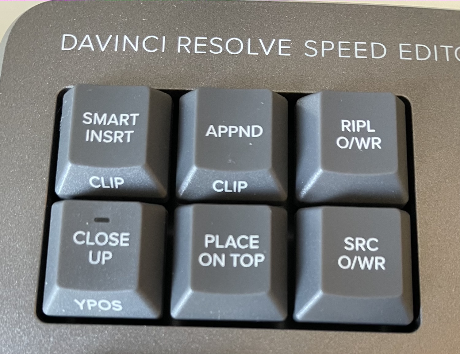DaVinci Resolve Speed Editor edit buttons