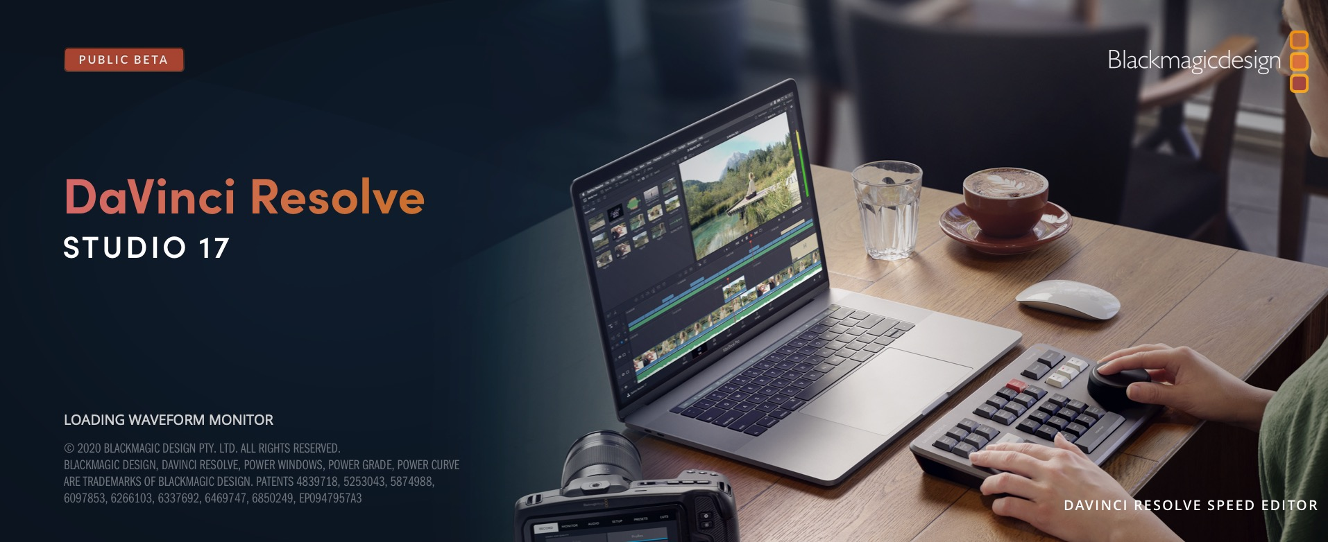 DaVinci Resolve Speed Editor splash screen