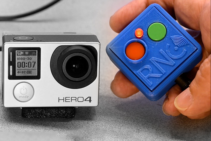 A remote control for GoPro Hero 4