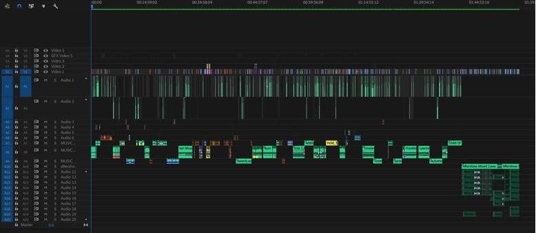 How I edited a complex feature documentary with in Adobe Premiere Pro with no crashes 26