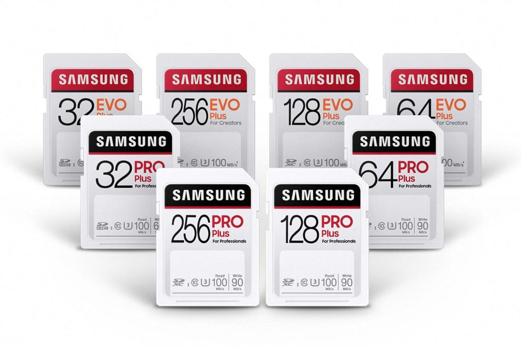 Samsung PRO Plus and EVO Plus SD cards for creators