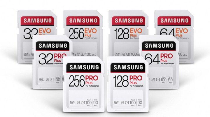 Samsung PRO Plus and EVO Plus SD cards for creators
