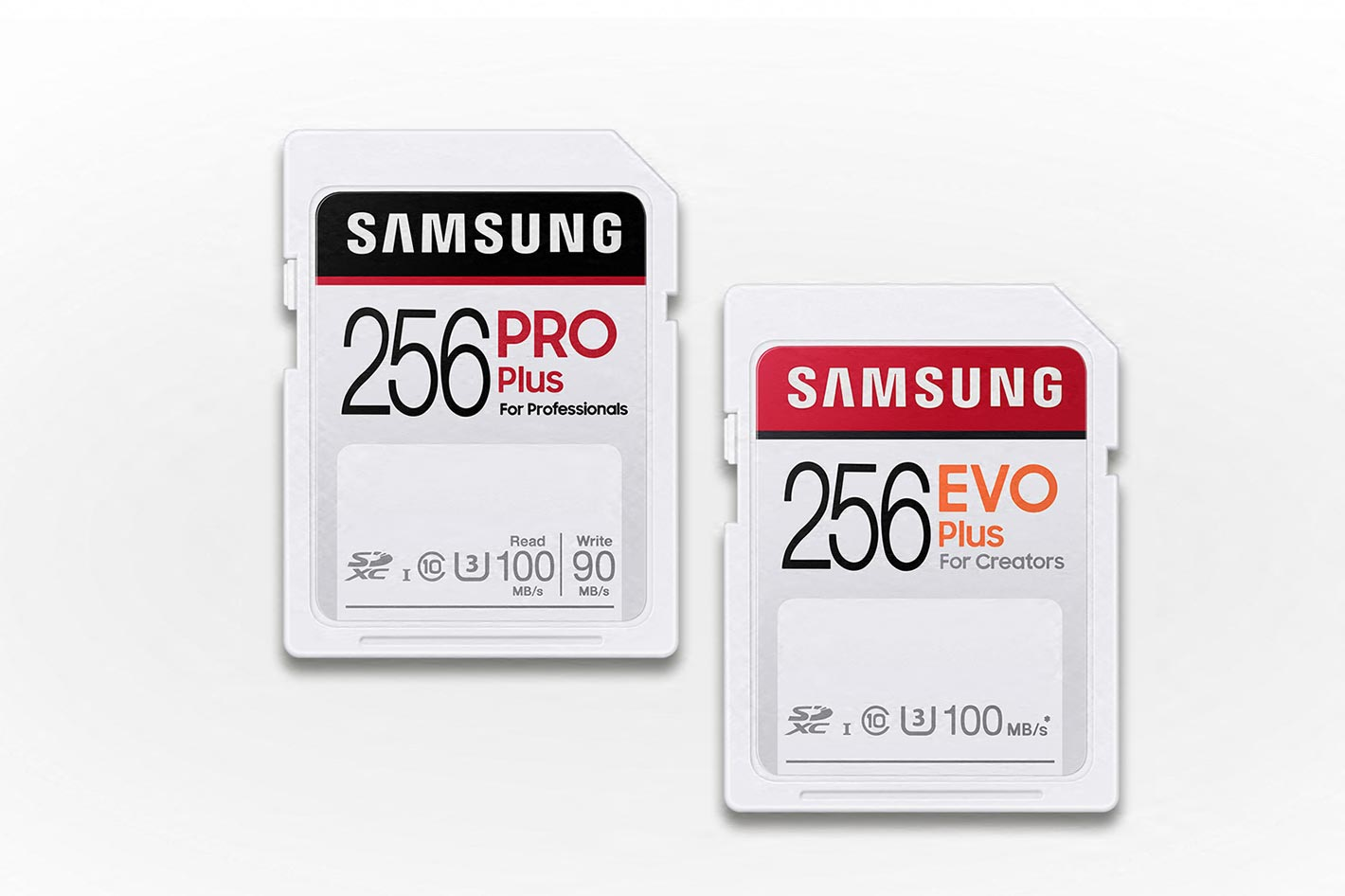 Samsung PRO Plus and EVO Plus SD cards for creators 3