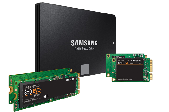 Samsung new SSD 860 PRO and 860 EVO powered by V-NAND
