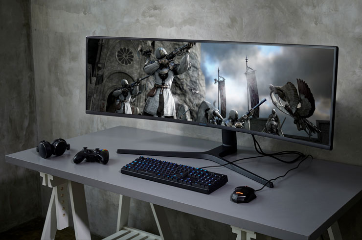 Samsung Space Monitor at CES 2019: saving space on your desktop