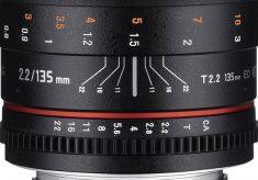 Samyang/Rokinon New 135mm T2.2 Cine Lens