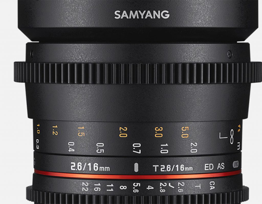 Samyang: new Cine 16mm T2.6 for full frame sensors