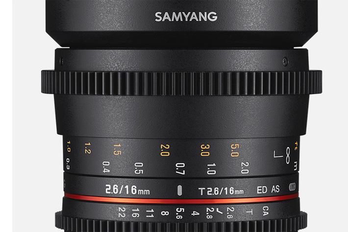 Samyang: new Cine 16mm T2.6 for full frame sensors