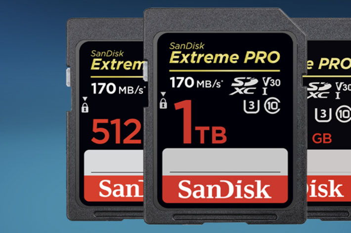 SanDisk unveils PRO CFexpress Card Type B with NVMe technology 3