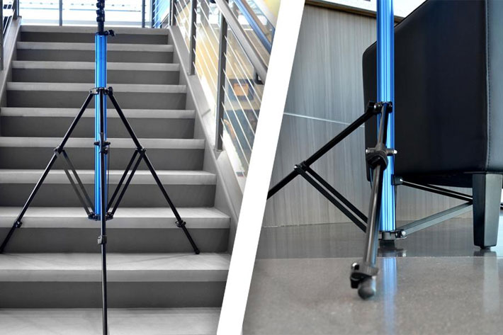 Savage MultiFlex Light Stand features and adjustable third leg