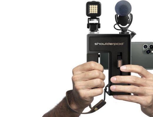 Shoulderpod G2: a professional video production grip for smartphones