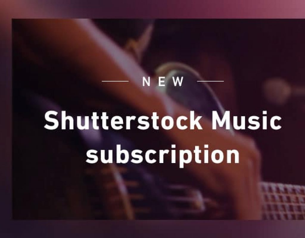 Shutterstock offers a new unlimited music subscription