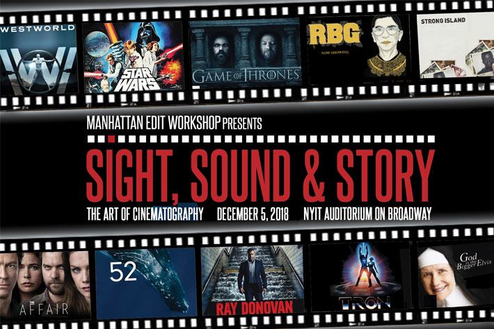 Sight, Sound & Story: The Art of Cinematography, returns to NYC