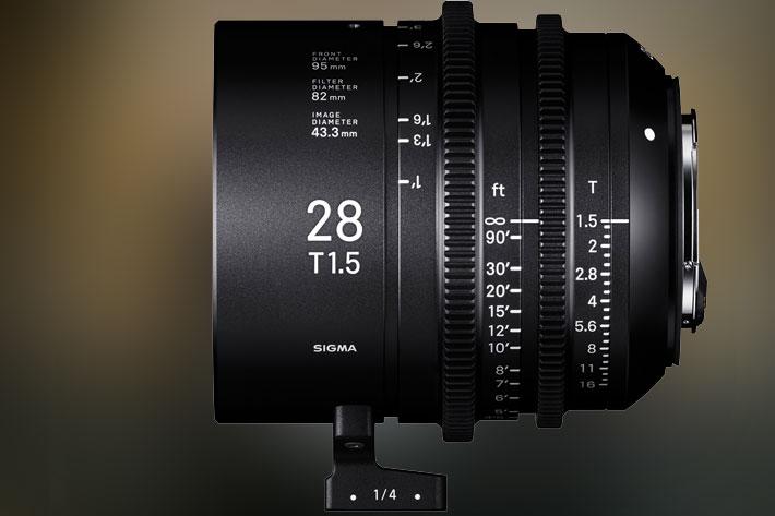 Sigma 28mm T1.5 Full-Frame Cine Lens arrives in March
