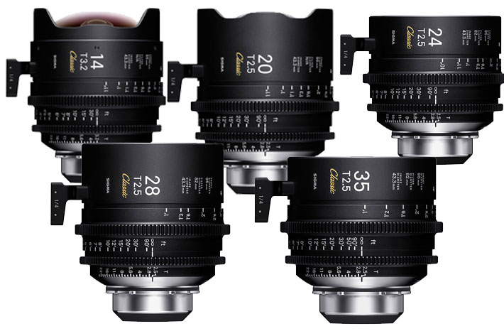 "SIGMA shows at IBC 2019 the new ""FF Classic Prime Line"" Cinema lenses"