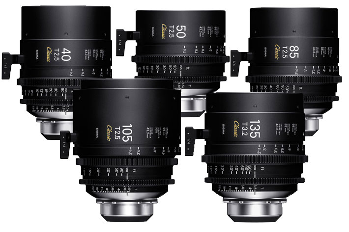 "SIGMA shows at IBC 2019 the new ""Classic Prime Line"" Cinema lenses 7"