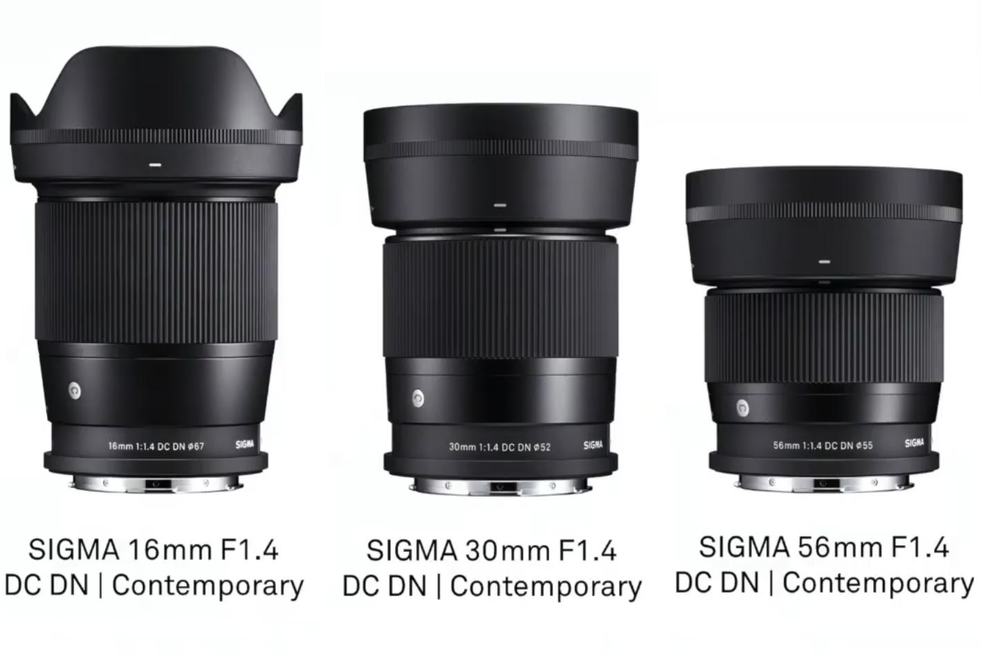 Sigma announces F1.4 Mirrorless Trio for L-Mount