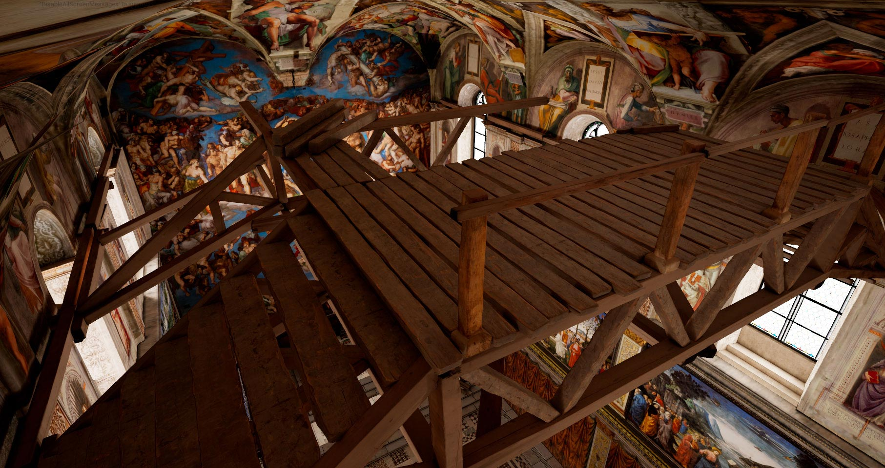 Explore the Sistine Chapel painted ceilings in VR