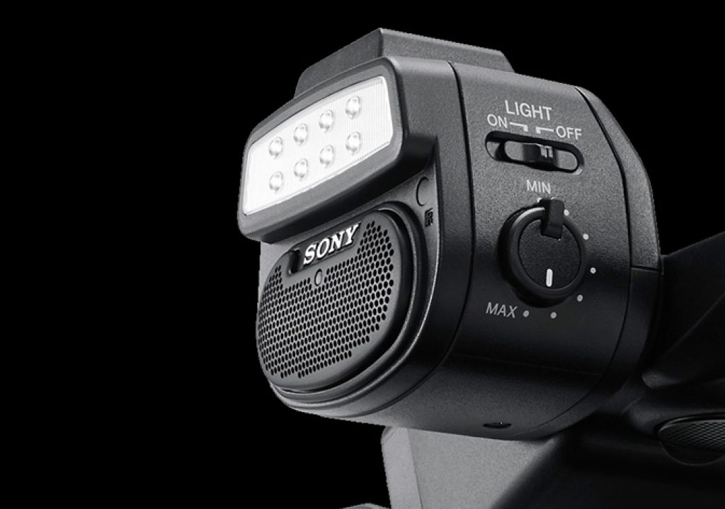 Sony HXR-NX5R has adjustable LED light