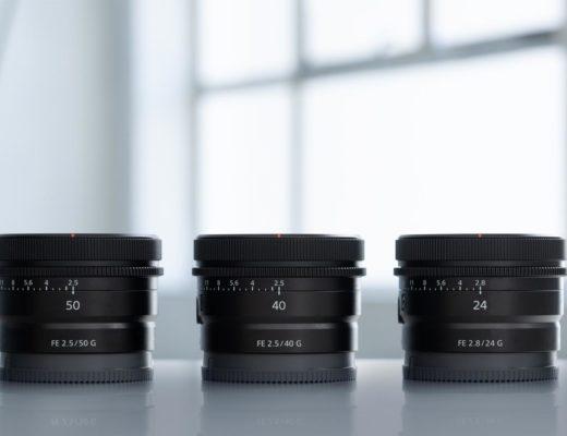 Sony: three new G Lenses to the full frame E-mount line-up