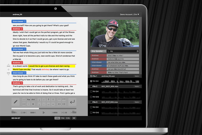 SpeedScriber: automated transcripts in minutes