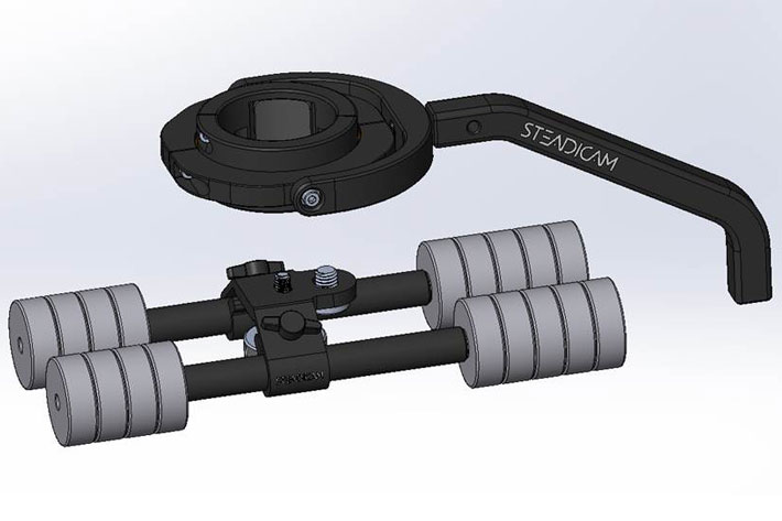 Steadimate-S, a new stabilizer from Steadicam to work with DJI Ronin-S
