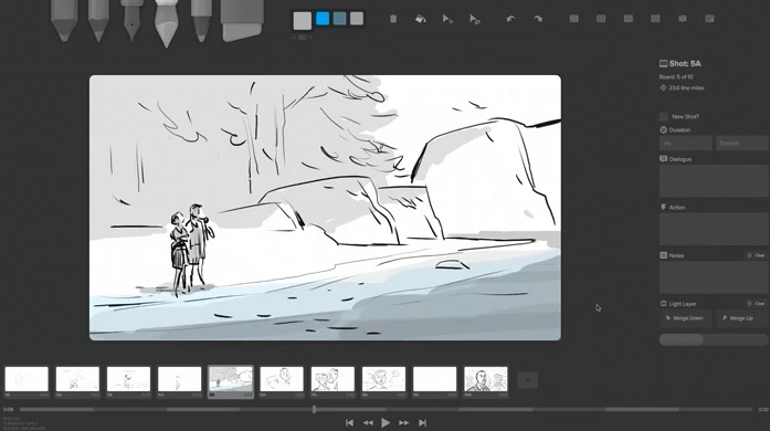 storyboarder interface