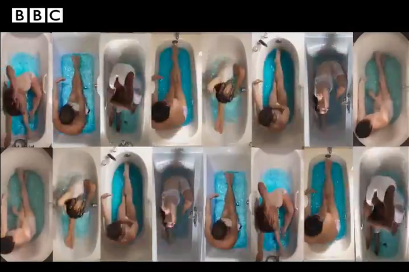 Swan Lake Bath Ballet filmed... in the bathtub
