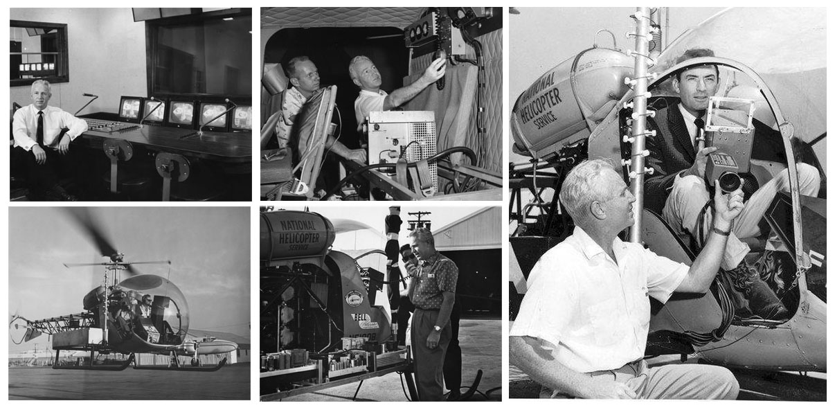 """Bell 47-G2 """"Telecopter"""": the first flying TV studio flew 63 year ago"""