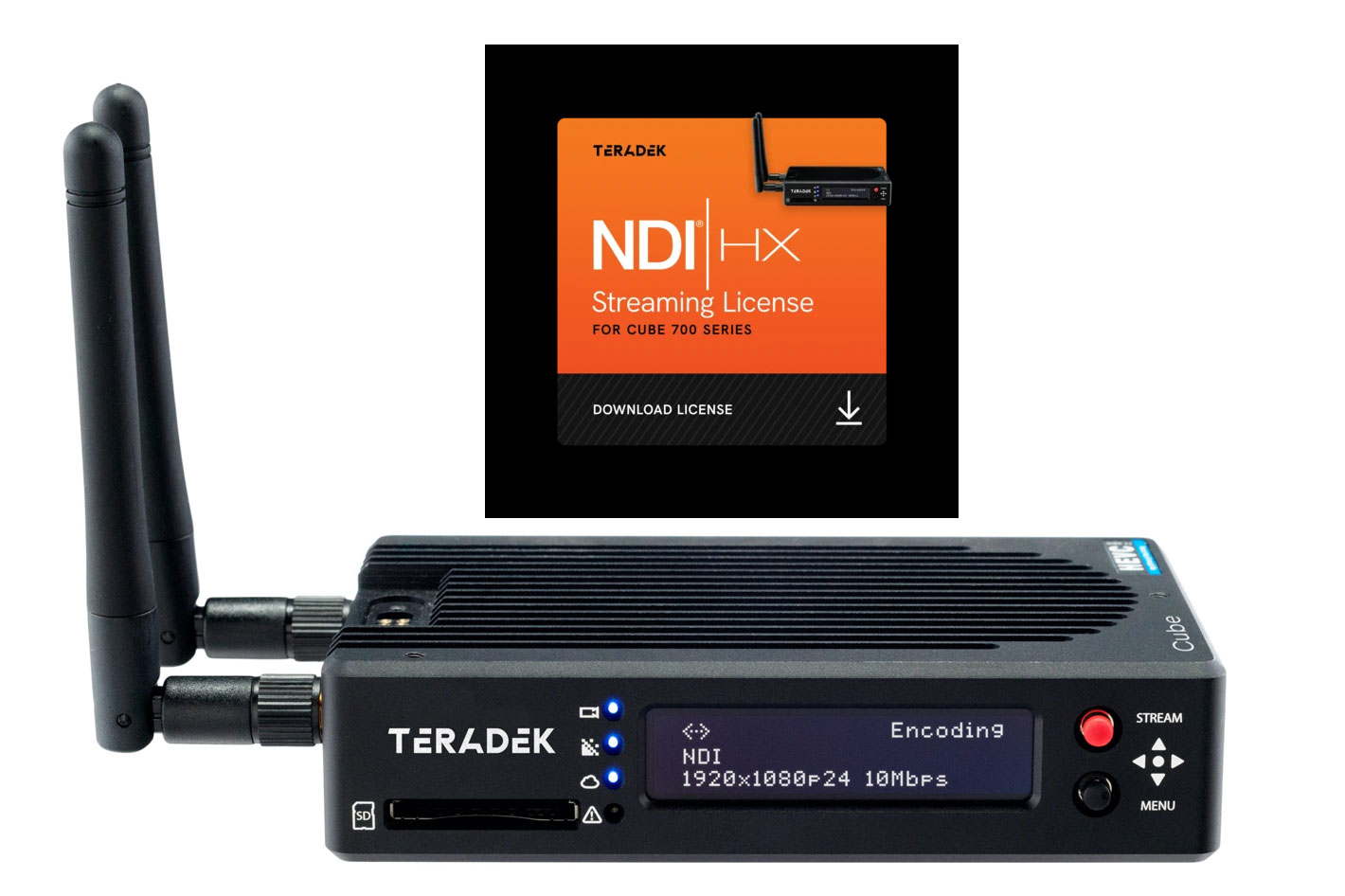 Teradek Cube 700 Series now offers NDI for video stream delivery