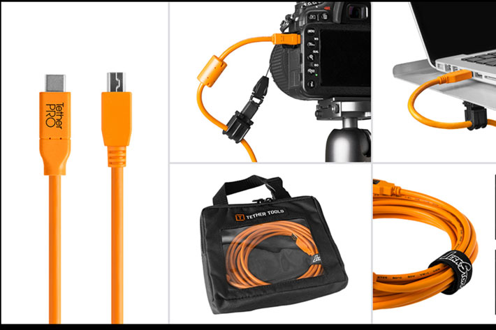 Shoot tethered anywhere, for complete control