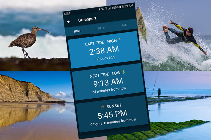 Tides Near Me, an essential app for coastal videography